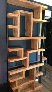 estanterias de madera maciza