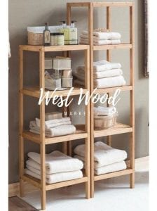 estanterias de madera para baño