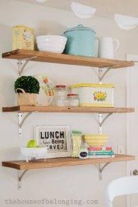 estanterias de madera para cocina