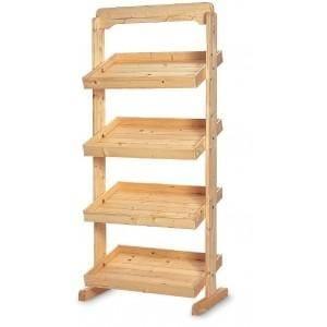 expositores de madera para tiendas