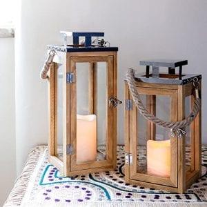 farolillos de madera