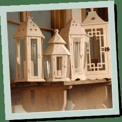 farolitos de madera