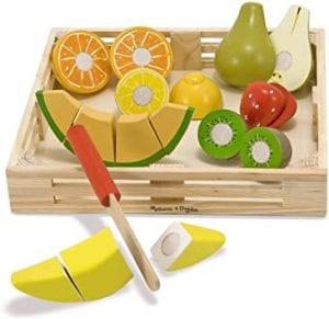 frutas de madera para cortar