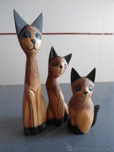 gatitos de madera