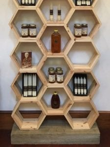 hexagonos de madera