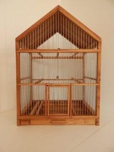 jaulas de madera para canarios
