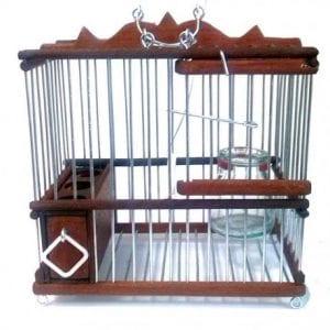 jaulas de madera para jilgueros