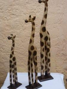 jirafas de madera