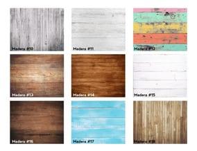 láminas de madera autoadhesivas