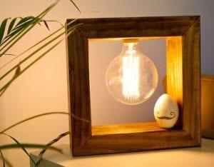 lámparas de madera hechas a mano