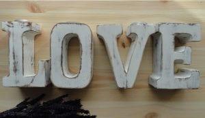 letras de madera grandes