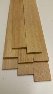 listones de madera de roble