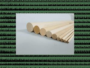 listones redondos de madera