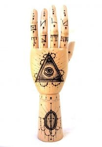 manos de madera articuladas