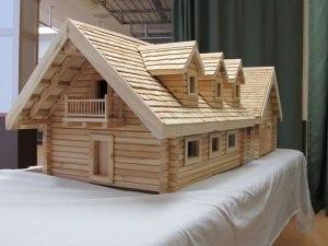maqueta de una casa de madera