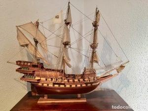 maquetas de madera de barcos