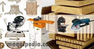 maquinaria de corte de madera