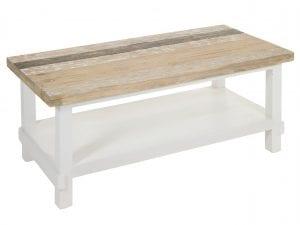 mesas de centro de madera blanca