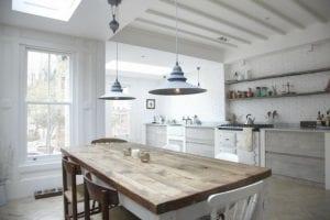 mesas de cocina de madera modernas