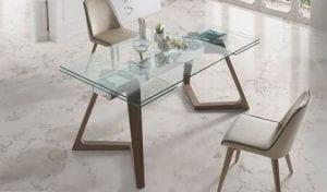 mesas de comedor de cristal con…