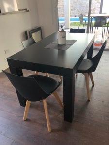 mesas de comedor de madera modernas