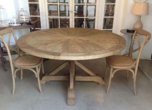 mesas de comedor redondas de madera
