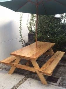 mesas de jardín de madera