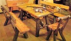 mesas de madera artesanales