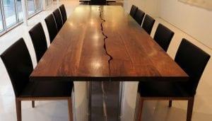 mesas de madera maciza modernas