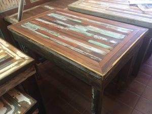 mesas de madera reciclada
