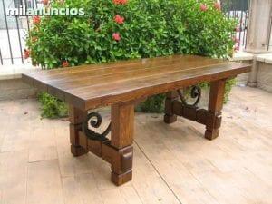 mesas de madera rusticas