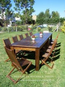 mesas de madera rusticas para exterior