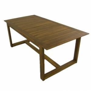 mesas de madera terraza