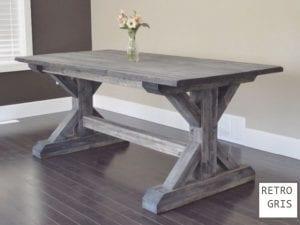 mesas de madera vintage