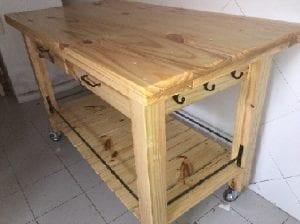 mesas para cocina de madera