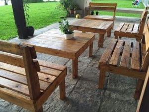 mesas para exteriores de madera