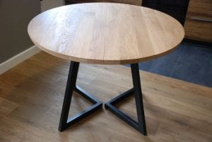 mesas redondas de madera extensibles