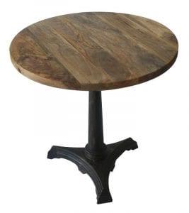mesitas de madera redondas