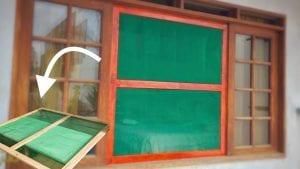mosquiteros para ventanas de madera