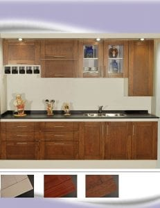 muebles de cocina de madera maciza