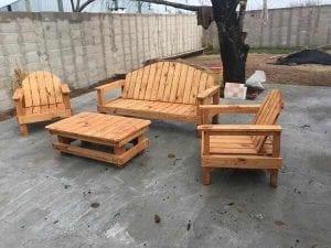 muebles de jardín de madera