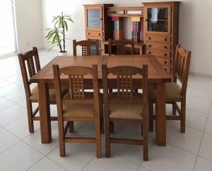 muebles de madera comedor