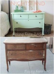 muebles de madera pintados