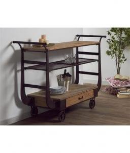 muebles de madera y forja