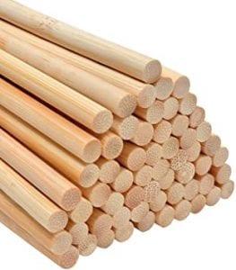 palitos de madera redondos