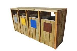 papeleras de madera