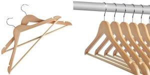 perchas de madera baratas