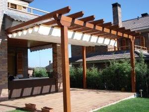 pérgolas de madera para terrazas