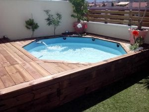 piscinas forradas de madera