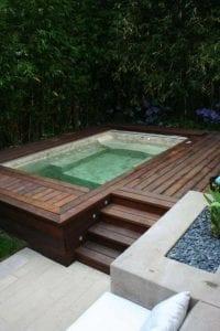 piscinas pequeñas de madera